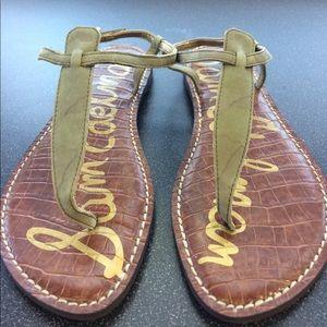 Sam Edelman sage green sandals size 8.5 m NWT